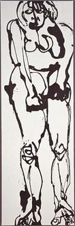 David Smith, Untitled, 1964 Enamel on canvas, 51 × 16 ⅝ inches (129.5 × 42.2 cm)