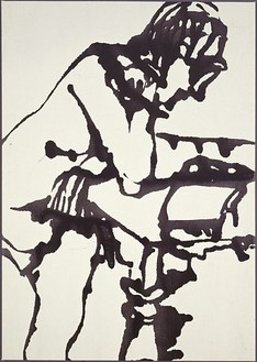 David Smith, Untitled, 1964 Enamel on canvas, 33 ⅛ × 49 inches (84.1 × 124.5 cm)