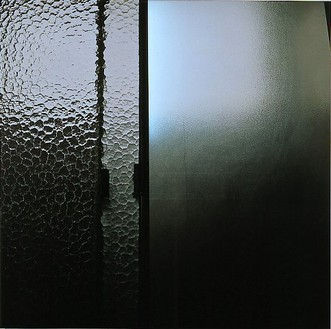 Elisa Sighicelli, Iceland: Shower Door, 2001 C-print on lightbox, 49 ¼ × 49 ¼ × 1 ½ inches (125.1 × 125.1 × 3.8 cm), edition of 3