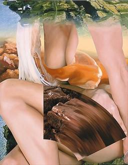 Jeff Koons, Pam, 2001 Oil on canvas, 108 × 84 inches (274.3 × 213.4 cm)© Jeff Koons, photo by Douglas M. Parker Studio