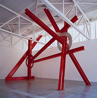 Mark Di Suvero, Ulalu, 2001 Stainless steel and steel, 313 × 245 × 421 inches (8 × 6.2 × 10.7 m)
