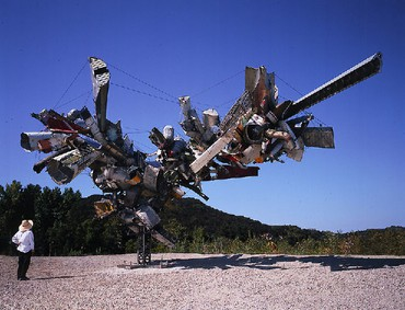 Nancy Rubins: Chas' Stainless Steel, Mark Thompson's Airplane Parts, About 1000 Pounds of Stainless Steel Wire, and Gagosian's Beverly Hills Space, Beverly Hills