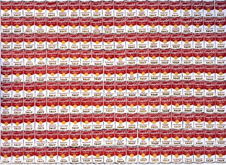 Andy Warhol, 200 Soup Cans, 1962 Synthetic polymer paint on canvas, 72 × 100 ¼ inches (182.9 × 254.6 cm)Copyright Andy Warhol Foundation for the Visual Arts, Inc