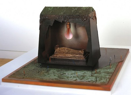 Claes Oldenburg, Feasible Monument for Grant Park Chicago: Memorial to Louis Sullivan (model), 1969 Cardboard, painted and shellacked, 14 × 23 ¼ × 27 inches (35.6 × 59.1 × 68.6 cm)