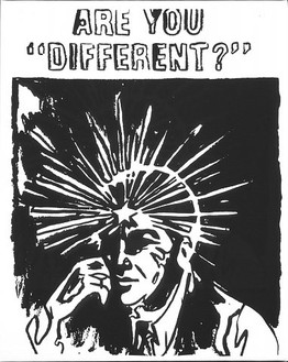 """Andy Warhol, Are You """"Different""""? (pos), 1985–86 Synthetic polymer paint and silkscreen ink on canvas, 20 × 16 inches (50.8 × 40.6 cm)"""