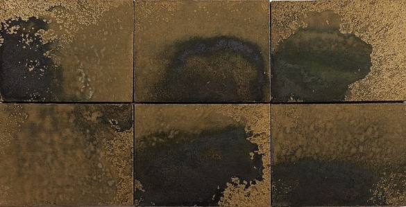 Andy Warhol, Oxidation Painting, 1978 Urine and metallic pigment in acrylic medium on canvas, 6 panels: 18 × 36 inches overall (45.7 × 91.4 cm)