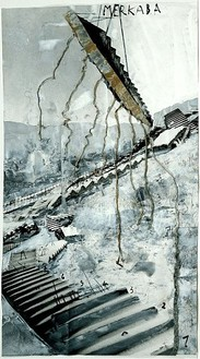 Anselm Kiefer, Merkaba, 2002 Painted photograph with lead, 58 ¼ × 31 ½ inches (148 × 80 cm)Photo: Tom Powel