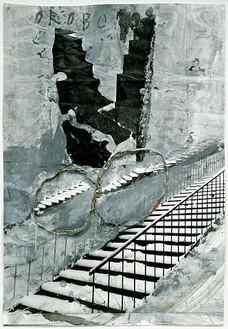 Anselm Kiefer, Oroborus, 2002 Painted photograph, 45 × 30 ¾ inches (114 × 78 cm)Photo: Tom Powel