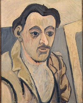 Arshile Gorky, Self-Portrait, 1931–33 Oil on canvas, 10 × 8 inches (25.4 × 20.3 cm)Photo: Rob McKeever