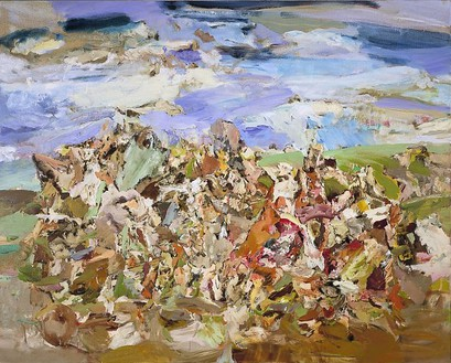 Cecily Brown, Foxglove, 2001 Oil on linen, 48 × 60 inches (121.9 × 152.4 cm)