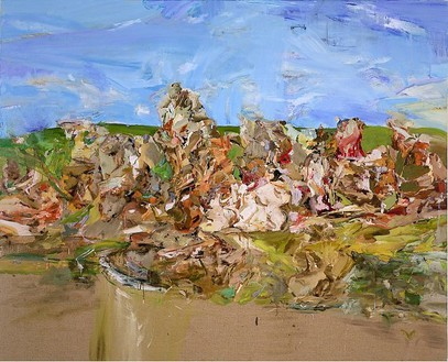 Cecily Brown, Red Rum, 2001 Oil on linen, 48 × 60 inches (121.9 × 152.4 cm)