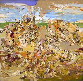Cecily Brown, Gangbusters, 2001 Oil on linen, 48 × 50 inches (121.9 × 127 cm)