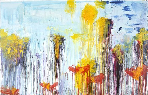 Cy Twombly, Lepanto (Part VII), 2001 Acrylic and wax crayon on canvas, 85 ¼ × 134 inches (216.5 × 340.4 cm)© Cy Twombly Foundation