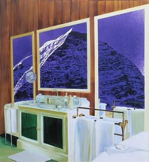 Dexter Dalwood, Nietzsche's Chalet, 2001 Oil on canvas, 49 × 45 inches (124.5 × 114.3 cm)