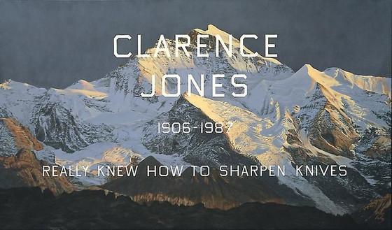 Ed Ruscha, Clarence Jones, 2001 Acrylic on canvas, 72 × 124 ⅛ inches (182.9 × 315.3 cm)