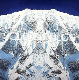 Ed Ruscha, Solo Gigoolos, 2002 Acrylic on canvas, 60 ⅛ × 60 ⅛ inches (152.7 × 152.7 cm)