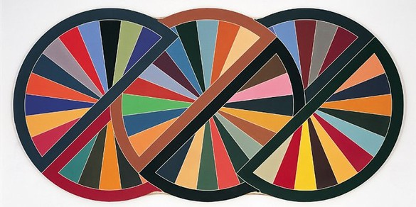 Frank Stella, Firuzabad III, 1970 Polymer and fluorescent polymer paint on canvas, 120 × 241 inches (304.8 × 612.1 cm)