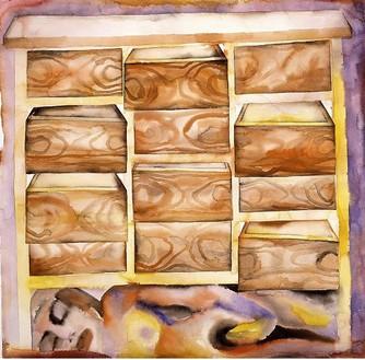 Francesco Clemente, Inside, 2001–02 Watercolor on paper, 44 ½ × 45 inches (113 × 114.3 cm)