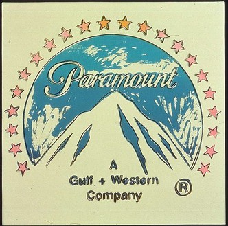 Andy Warhol, Paramount, 1985 Acrylic and silkcreen enamel on canvas, 22 × 22 inches (55.9 × 55.9 cm)