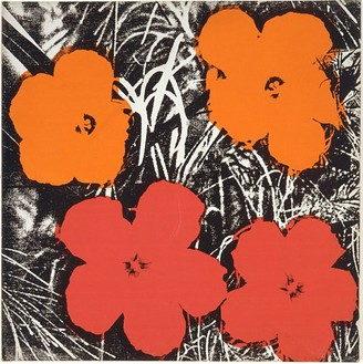 Andy Warhol, Flowers, 1964 Synthetic polymer paint and silkscreen ink on canvas, 22 × 22 inches (55.9 × 55.9 cm)