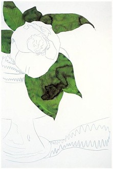 Andy Warhol, Flowers, 1974 Pencil and dye on paper, 40 ½ × 27 ¼ inches (102.9 × 69.2 cm)