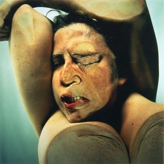 Jenny Saville & Glen Luchford, Closed Contact #14, 1995–96 C-print mounted in Plexiglas, 72 × 72 × 6 inches (182.9 × 182.9 × 15.2 cm), edition of 6
