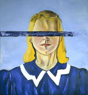Julian Schnabel, Large Girl with No Eyes, 2001 Oil and wax on canvas, 162 × 148 inches (411.5 × 375.9 cm)