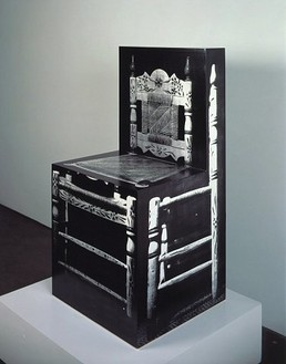 Richard Artschwager, Chair 1965-2000, 1965–2000 Acrylic, paper and wood, 40 ½ × 20 ½ × 20 inches (102.9 × 52.1 × 50.8 cm)