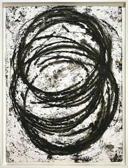 Richard Serra, As of Yesterday, 2001 Paintstick on handmade paper, 40 ½ × 30 ¼ inches (102.9 × 76.8 cm)Photo: Robert McKeever