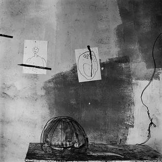 Roger Ballen, Cat in basket, 2002 Selenium toned gelatin silver print, 15 × 15 inches (38.1 × 38.1 cm) or 28 × 28 inches (71.1 × 71.1 cm), edition of 20