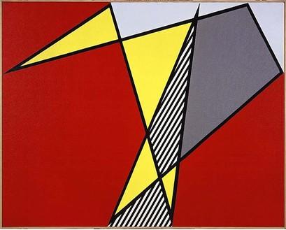 Roy Lichtenstein, Perfect Painting, 1978 Oil and magna on canvas, 40 × 50 inches (101.6 × 127 cm)© Estate of Roy Lichtenstein
