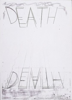 Bruce Nauman, Eat Death, 1973 Lithograph on Arjomari paper, 42 ½ × 31 ⅛ inches (108 × 79.1 cm)