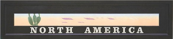 Neil Jenney, North America, 1978–90 Acrylic on panel, 25 × 113 inches (63.5 × 287 cm)