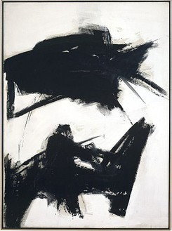 Franz Kline, Black Sienna, 1960 Oil on canvas, 92 ¼ × 68 inches (234.3 × 172.7 cm). Private collection