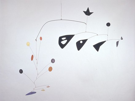 Alexander Calder, Untitled, 1949 Painted sheet metal, wire and rod, 42 × 90 × 30 inches (106.7 × 228.6 × 76.3 cm)