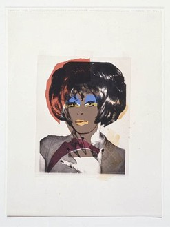 Andy Warhol, Ladies and Gentlemen, 1975 Screenprint on acetate and coloured graphic art paper, collage on sketchbook paper, 24 × 18 inches (61 × 45.7 cm)