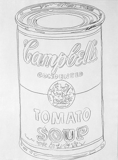 Andy Warhol, Cambell's Soup Can (Tomato), 1981 Graphite on HMP paper, 40 ⅜ × 30 ½ inches (102.6 × 77.5 cm)
