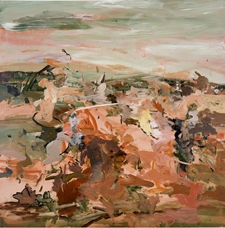 Cecily Brown, Red Painting I, 2002 Oil on linen, 80 × 80 inches (203.2 × 203.2 cm)