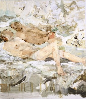Cecily Brown, These Foolish Things, 2002 Oil on linen, 90 × 78 inches (228.6 × 198.1 cm)