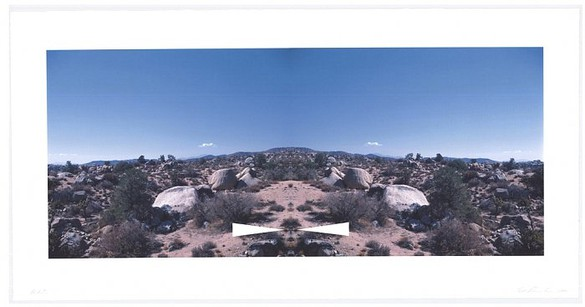 Ed Ruscha, Palm Springs (Bowtie Landscapes), 2003 Pigmented inkjet print, 21 ½ × 43 inches (54.6 × 109.2 cm), edition of 35