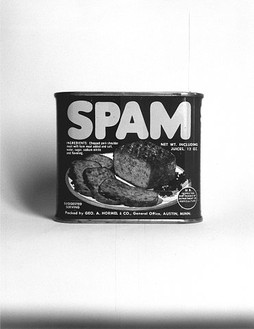 Ed Ruscha, Spam, 1961/2003 Gelatin silver print, Image: 13 × 10 inches (33 × 25.4 cm), edition of 8