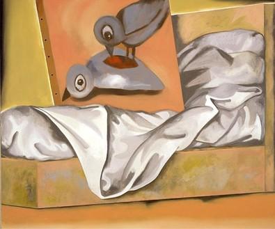 Francesco Clemente, Bedroom Painting, 2002 Oil on linen, 70 × 84 inches (177.8 × 213.4 cm)