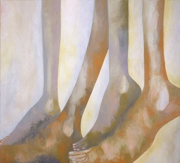 Francesco Clemente, Something I Heard II, 2002 Oil on linen, 76 × 84 ½ inches (193 × 214.6 cm)