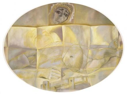 Francesco Clemente, Pieta, 2003 Oil on linen, 60 × 80 inches (152.4 × 203.2 cm)