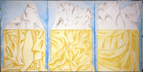 Francesco Clemente, Three Kings, 2002 Fresco, Triptych: 118 × 236 inches overall (300 × 600 cm)