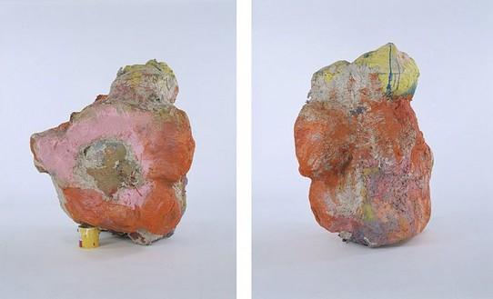 Franz West Sisyphos I, 2002 Papier-mâché, Styrofoam, cardboard, lacquer, and acrylic 53 × 43 3/8 × 63 inches (134.6 × 110.1 × 160 cm) 2 views