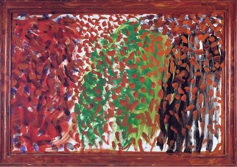 Howard Hodgkin, Autumn, 2003 Oil on wood, 84 ⅞ × 120 ¾ inches (215.6 × 306.7 cm)