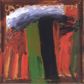 Howard Hodgkin, The Body in the Library, 1998–2003 Oil on wood, 84 × 85 ¼ inches (213.4 × 216.5 cm)