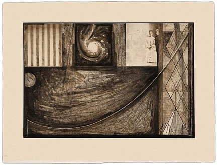 Jasper Johns, Untitled, 2001 Intaglio, 25 ⅞ × 33 ⅝ inches (65.7 × 85.4 cm), edition of 46