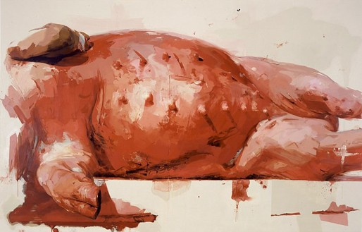 Jenny Saville, Suspension, 2002–03 Oil on canvas, 115 × 178 inches (292.1 × 452.1 cm)